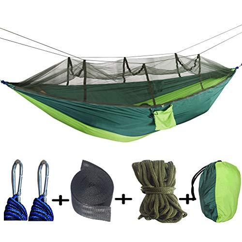 ZEIYUQI Outdoor Hanging Hammocks Camping Double Portable Siesta Hammocks Tentsile Tree Tents for Terrace Garden,double green