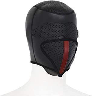 SLH All-inclusive Rubber Headgear Blindfold Detachable Mask Personality Samurai Cap Role-playing Helmet T-shirt