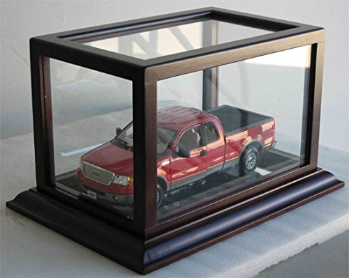 1:24 Scale Wheels Toy Car Diecast Vehicle Model Car Display Case Stand, Hot-HW02 (Mahogany Finish)