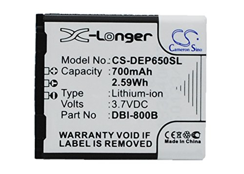 CS-DEP650SL Akku 700mAh Kompatibel mit [Doro] Liberto 650, Secure 580, Secure 580IUP Ersetzt DBI-800B, für DBI-800C