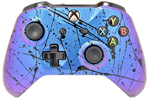 Color Changing Chameleon W/Black Splatter Xbox One S Wireless Custom Controller for Microsoft Xbox One