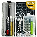 Exacto knife kit precision box cutter utility hand tools blade letter opener hobbies Ruler razor pen ratchet screwdriver carving tools for craft supplies & materials scrapbooking stationary supplies