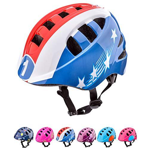 Meteor Casco Bici Ideale per Bambini e Adolescenti Caschi Perfetto per Downhill Enduro Ciclismo MTB Scooter Helmet Ideale per Tutte Le Forme di attività in Bicicletta (S (48-52 cm), Captain)