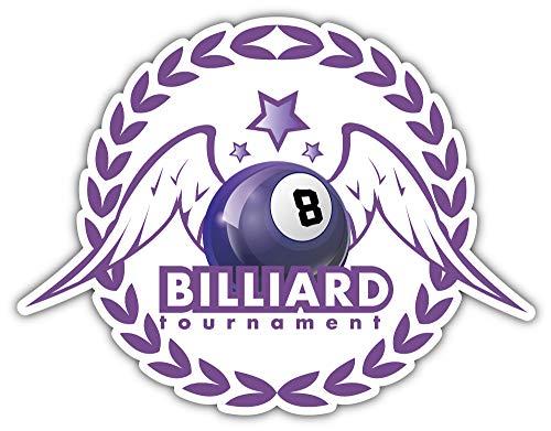 SkyBug Billiards Pool and Snooker Bumper Sticker Vinyl Art Decal for Car Truck Van Window Bike Laptop