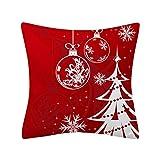LUNULE Funda de Almohada de Navidad 45x45cm Funda de Cojín de Sofá de Poliéster con Brillo Decoración del Hogar Decoracion Hogar Casa Sofa Jardin Cama