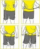 C.P. Sports 38755 - Cinturón de Entrenamiento con Cadena (Talla única, 82 cm), Color Negro