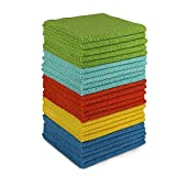 AIDEA Microfiber Cleaning Cloths-24Pack, All-Purpose Softer Highly Absorbent, Lint Free - Streak Free Wash Cloth for House, Kitchen, Car, Window, Gifts(12in.x 12in.)