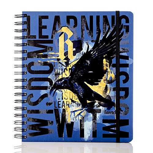 Conquest Journals Limited Edition Harry Potter Ravenclaw 2020 Weekly Planner, Weekly Vertical Format, Wrapped Book Board Cover, Spiral Bound, 4 Sticker Sheets, Elastic Strap, Bookmark, 200 Pages