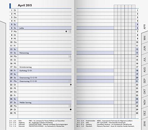 BRUNNEN 1075300 Taschenkalender/Monats-Sichtkalender Modell 753 Ersatzkalendarium (2 Seiten = 1 Monat, 8,7 x 15,3 cm, Kalendarium 2020)