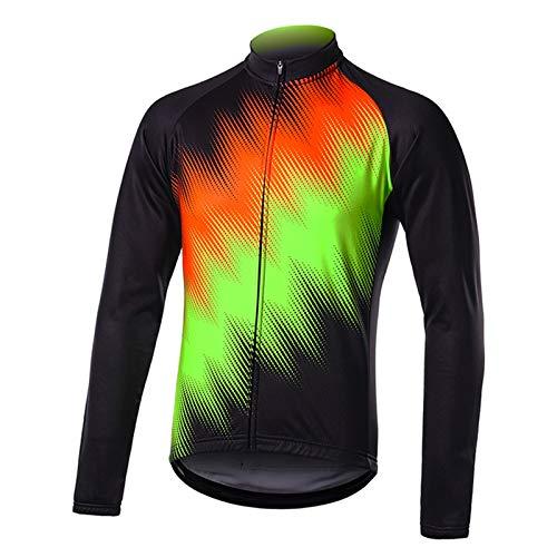 Primavera y Otoño Maillot Ciclismo Hombre Camiseta Ciclismo Manga Larga,Camiseta Ciclismo MTB,Ultralight Transpirable MTB Camisa,para Deportes y al Aire Libre Ropa Bicicleta(Size:Metro,Color:F05)