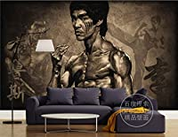 クラシック壁紙ブルースリー壁壁画カンフー写真壁紙寝室武術部屋の装飾リビングルームテレビ背景壁, 350cm×245cm