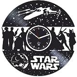 Kovides Star Wars, The Force Awakens, Wall Clock Vintage, Gift for Boyfriend, Vinyl Record Clock, Vinyl Wall Clock, Darth Vader, Star Wars Clock, Wall Clock Moder, Gift for Brother, Star Wars Gift