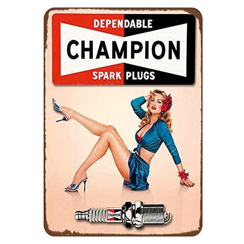 keletop Spark plugs service tin sign vintage metal plate painting retro iron picture wall decoration for garage bar cafe gym car shop 20 * 30cm