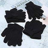 Knowled Kinderhandschuhe winter mädchen softshell Jungen 12 Paar Unisex Kinder Handschuhe Stretch Vollfinger Handschuhe Strickhandschuhe Winter Warme Strickhandschuhe für Jungen und rational