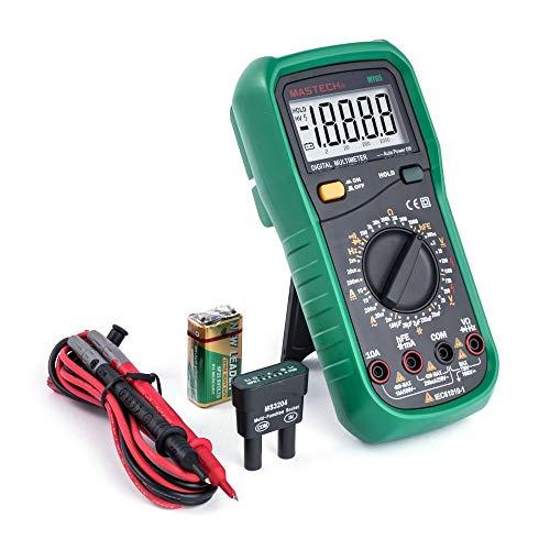 Mastech MY65 - Multímetro digital (20000 cuentas, alta precisión, DCV 1000 V, 200 MΩ, funda protectora)