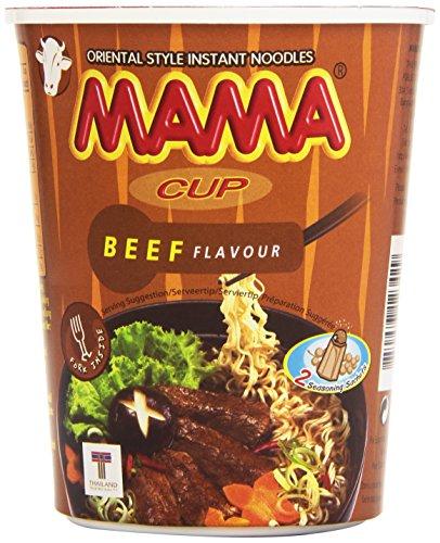 Mama - Cup Beef Flavour - Fideos orientales sabor a ternera 70 gr