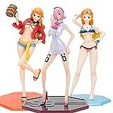wdsheng 3 Unids / Set Anime Una Pieza Pop Nami Vince Mokretau Barril De Vino Nami 22Cm, Juguetes De Modelo De Figura De Acción De PVC