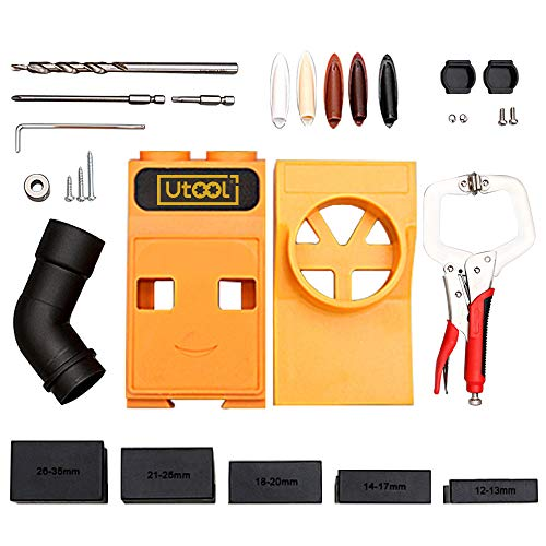 Utool Pocket Hole Jig Portable All in One Set with Face Clamp