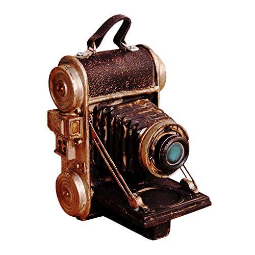 LINVINC Adornos de Cámara de Resina Vintage - Ornament de Artesanía de Arte para la Decoración del Hogar Colección Figurilla Decoración de Escritorio de Regalo Accesorios de Fotografía, 14x11x8.5cm
