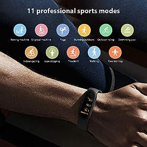 """Xiaomi Mi Band 5 Pulsera Inteligente de Actividad,Monitores de Actividad,Fitness Tracker,1.1""""Pantalla Dinámica Color,Negro( Versión Global)"""