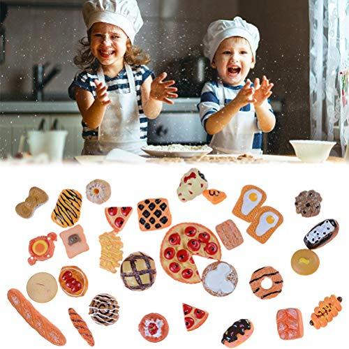 Modelos de bricolaje Comida para jugar la joyería del teléfono móvil Material de la caja del kit de estimulación del alimento Accesorios realista casa de muñeca Accesorios Niños Accesorios de Cocina