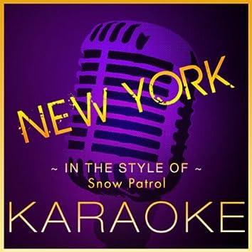 New York (Karaoke Version) [In the Style of Snow Patrol]