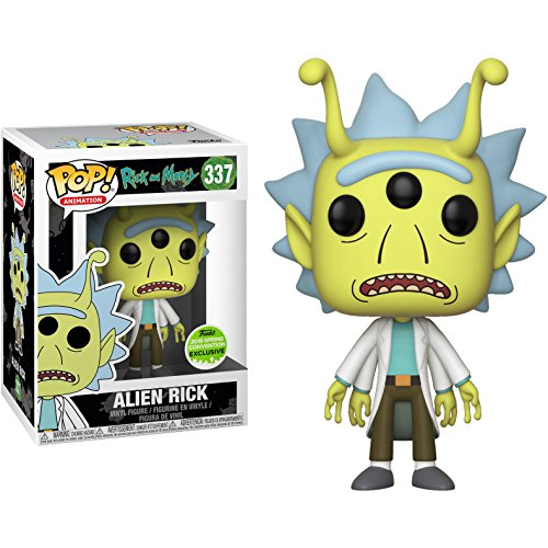 "Funko Pop! Animation Rick y Morty SDCC 2018 Convención de Primavera Edición Limitada ""Alien Rick"" 337 Figura Exclusiva"