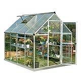 Palram HG5508PH Hybrid Hobby Greenhouse w/Plant Hangers, 6' x 8' x 7',...
