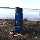 Survival Hax Water Filter Bottle with Purifier Straw