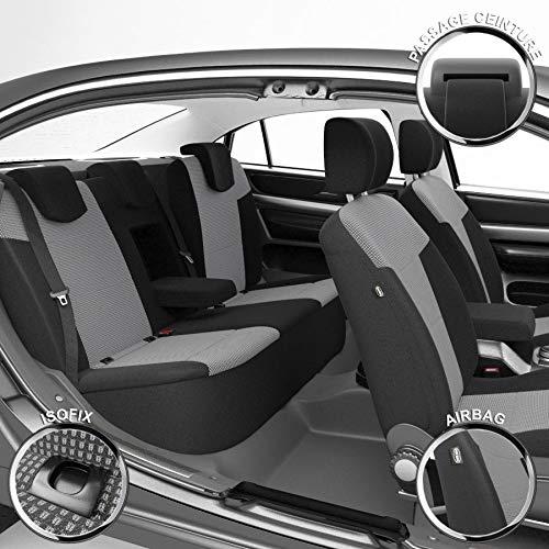 DBS - Housses de siège sur Mesure pour Talisman (12/2015 à 2021) | Housse Voiture/Auto d'intérieur | Haut de Gamme | Jeu Complet en Tissu | Montage Rapide