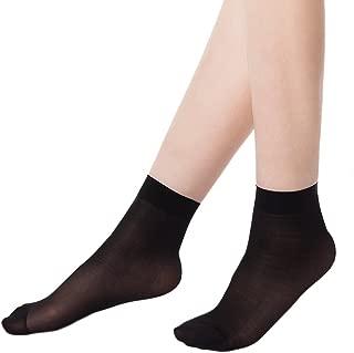 Coton Chaussettes Socquettes anti-d/érapant Silicone confortables couleur vari/ée Hihamer Lot de 4 Prot/ège Pied Chaussettes Invisible de Microfibre pour Femmes