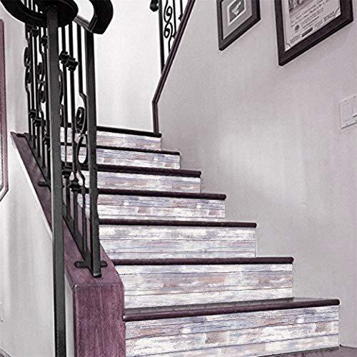 djryj Valiosa Creativo Vintage Madera de Pared Estante Soporte Estanter/ía Almacenaje Organizador Colgante Decoraci/ón Hogar Escaleras Estante Pared para Decoraci/ón Hogar Beige