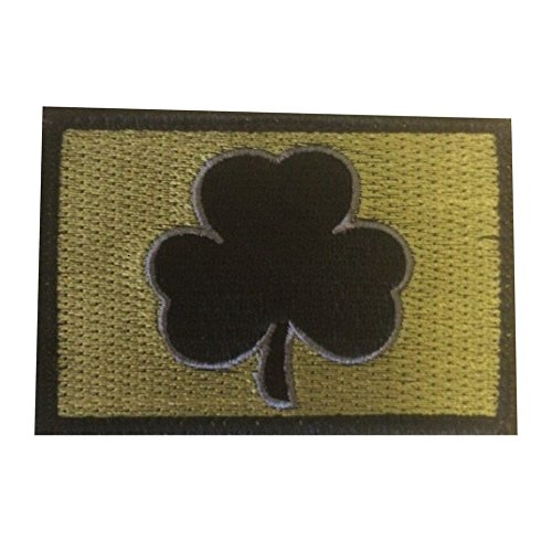 Irish Tactical Morale Shamrock Patch with Hook & Loop (Subdued OD Green w/ Gray, 2' x 3')