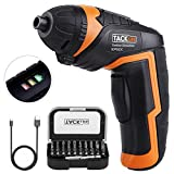 TACKLIFE Cordless Screwdriver, USB Rechargeable Electric Screwdriver with 31 Accessories, 2.0Ah Li-ion