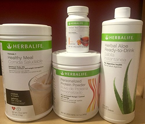 Herbalife formula 1+Personalized Protein+Ready to drink Aloe+Herbal Tea Concentrate