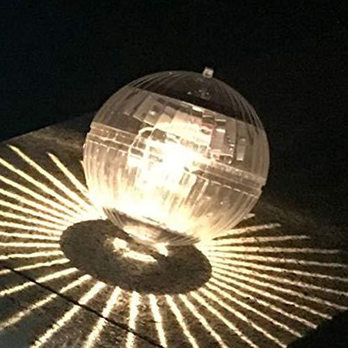 Solar-Teichlicht, schwimmende Lichter zum Aufhängen, Kugel-Lampe mit Farbwechsel-Nachtlicht, wasserdicht, für Schwimmbad, Teich, Garten, Party, Heimdekoration (warmes Gelb)