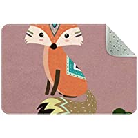エリアラグ軽量 狐 フロアマットソフトカーペットチホームリビングダイニングルームベッドルーム