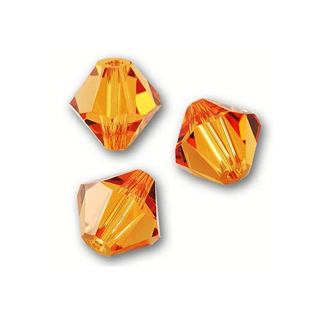 50pcs 8mm Adabele Austrian Bicone Crystal Beads Sun Compatible with Swarovski Crystals Preciosa 5301/5328 SSB812