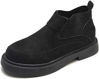[イノヤシューズ] サイドゴア ラグソール ショートブーツ レディース ヒール スニーカー 大きいサイズ 黒 グレー ローファー ショート ブーティ スムース サイドゴアブーツ 靴 ブーティー ブーツ 可愛い レディースブーツ