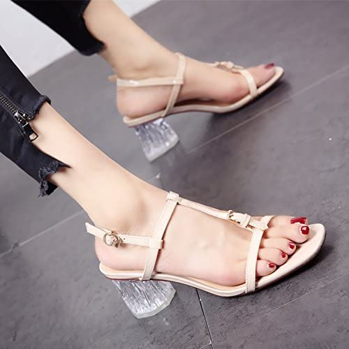 YMFIE L'été de Style européen Nouveau Fashion T Toe Sandales à Talons Hauts Sexy Lady Antiskid Confortable Les Chaussures de Plage