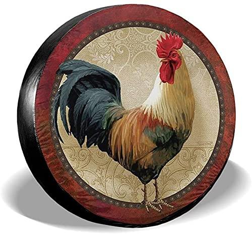 MODORSAN Rooster Badge - Cubierta de neumático de Repuesto,poliéster,Universal,de 17 Pulgadas,para Rueda de Repuesto,para Remolque,RV,SUV,camión,camión,camioneta,Viaje,Remolque,Accesorios