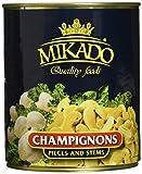 Mikado Champignons, 3. Wahl Scheiben, 2er Pack (2 x 800 g Dose)