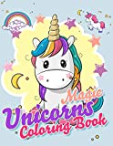Magic Unicorns Coloring Book: 48 Exclusive Illustrations for Unicorns Lovers