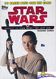 2017 Topps Journey to Star Wars: The Last Jedi EXCLUSIVE Factory Sealed Retail Box with 10 Packs & VERY SPECIAL EMBLEM Card! Includes 10 Parallels & 10 Insert Cards! Look for Autographs! WOWZZER!