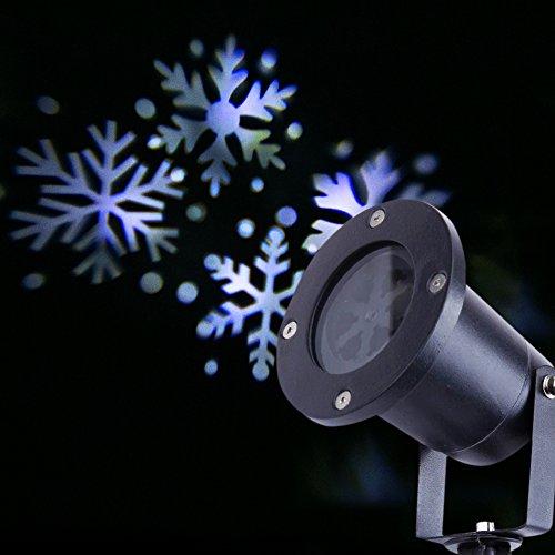 Spostando i Fiocchi di Neve Impermeabili Riflettori Luci Esterne Dell'interno Paesaggio Ha condotto il Proiettore di Luce di Natale Vacanza Luci Decorazione Giardino (1 pcs)
