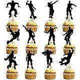HASAKA 24 Stück Dance Floss Cupcake Toppers (12 Arten)