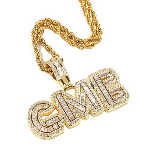 Collar de letras de burbujas personalizado Colgante de Hip Hop Iced Out A-Z Cadena de letras iniciales Collar de nombre personalizado Colgante de encanto de alfabeto colorido