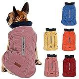 Pethiy Waterproof Windproof Reversible Dog Vest Winter Coat Warm Dog Apparel Cold Weather Dog Jacket Pink S