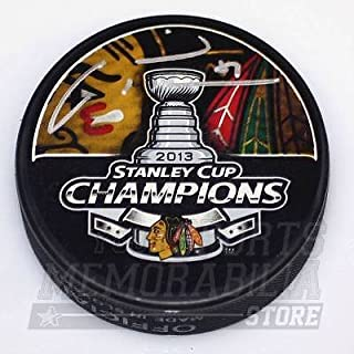 Marian Hossa Chicago Blackhawks Signed Autographed Stanley Cup Champions Puck