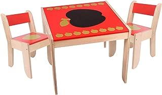 Ikea Mammut IK15-CZER Set tavolo e 2 sedie per bambini